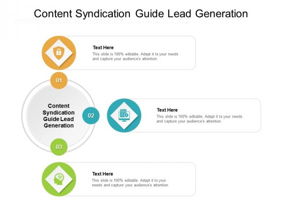 Content Syndication Guide Lead Generation Ppt PowerPoint Presentation Styles Show Cpb Pdf