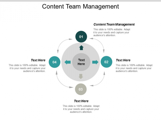 Content Team Management Ppt Powerpoint Presentation Infographics Design Templates Cpb