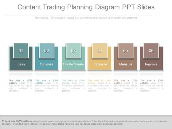 Content Trading Planning Diagram Ppt Slides