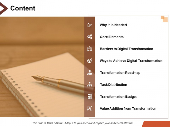 Content Value Addition From Transformation Ppt PowerPoint Presentation Outline Slide
