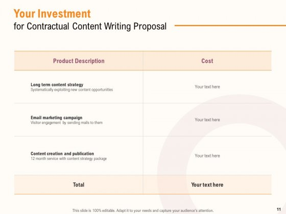 Content_Writer_Proposal_Template_Ppt_PowerPoint_Presentation_Complete_Deck_With_Slides_Slide_11