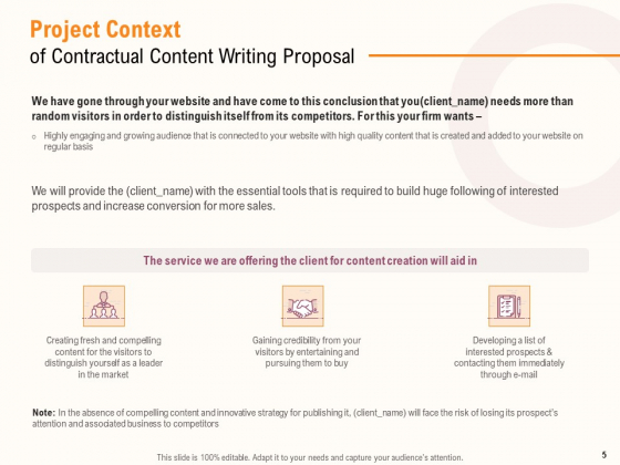 Content_Writer_Proposal_Template_Ppt_PowerPoint_Presentation_Complete_Deck_With_Slides_Slide_5
