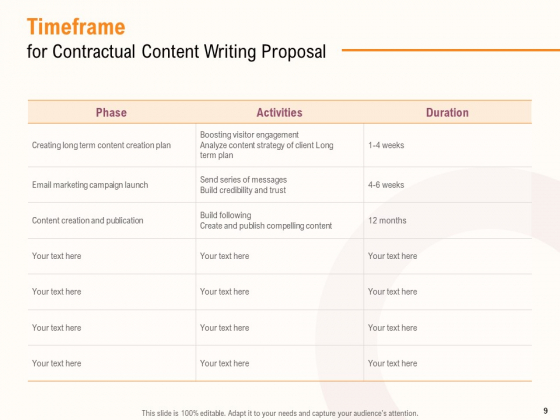 Content_Writer_Proposal_Template_Ppt_PowerPoint_Presentation_Complete_Deck_With_Slides_Slide_9