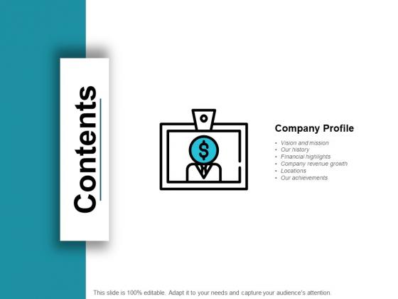 Contents Slide Marketing Ppt PowerPoint Presentation Inspiration