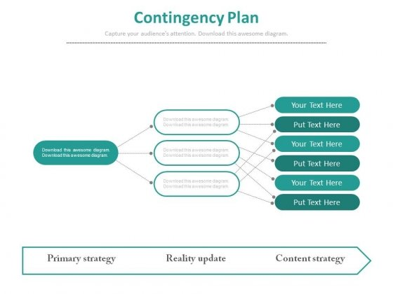 Contingency Plan Flow Chart Ppt Slides - Powerpoint Templates