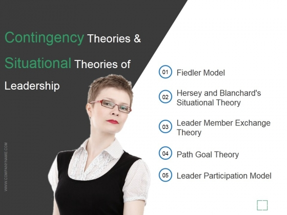 Contingency Theories And Situational Theories Of Leadership Ppt PowerPoint Presentation Clipart