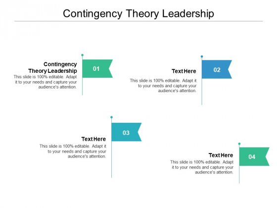 Contingency Theory Leadership Ppt PowerPoint Presentation Styles Show Cpb