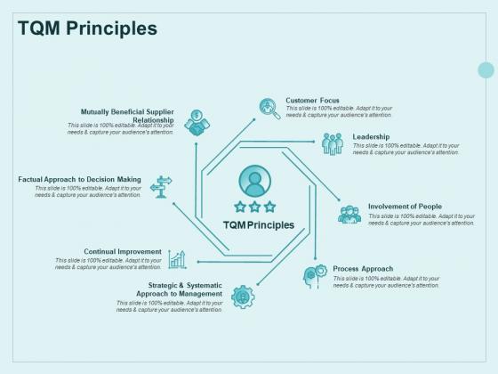 Continual Improvement Model TQM Principles Ppt Model Information PDF