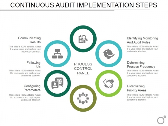 Continuous Audit Implementation Steps Ppt PowerPoint Presentation Infographics Display