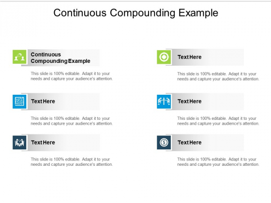 Continuous Compounding Example Ppt PowerPoint Presentation Slides Microsoft Cpb