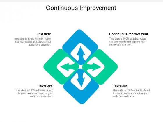Continuous Improvement Ppt PowerPoint Presentation Gallery Background Cpb