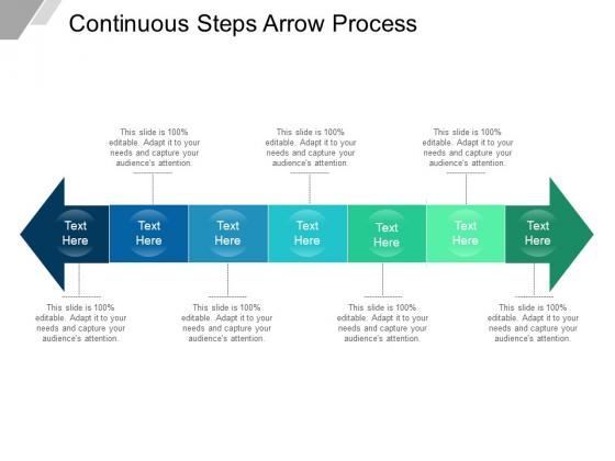 Continuous Steps Arrow Process Ppt PowerPoint Presentation Pictures Outline