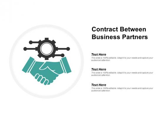 Contract Between Business Partners Ppt PowerPoint Presentation Summary Smartart