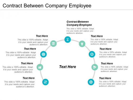 Contract Between Company Employee Ppt PowerPoint Presentation Model Mockup Cpb