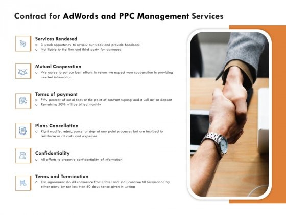 Contract For Adwords And PPC Management Services Inspiration PDF