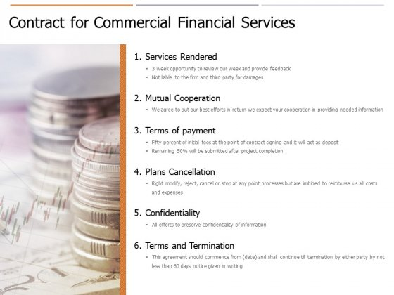 Contract For Commercial Financial Services Ppt PowerPoint Presentation Infographic Template Designs Download