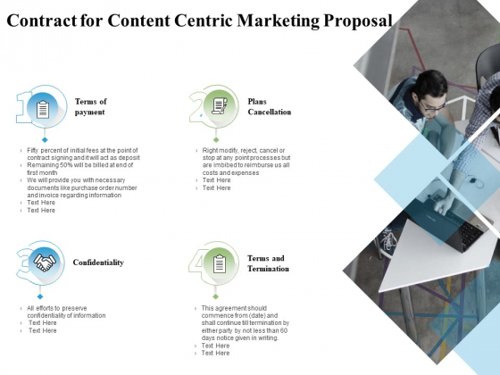 Contract For Content Centric Marketing Proposal Ppt PowerPoint Presentation Professional Styles