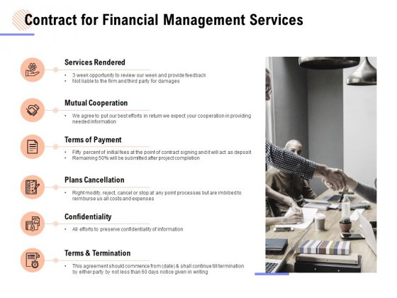 Contract For Financial Management Services Ppt PowerPoint Presentation Example 2015