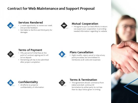 Contract For Web Maintenance And Support Proposal Ppt PowerPoint Presentation Outline Design Templates