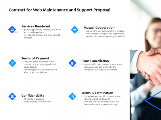 Contract For Web Maintenance And Support Proposal Ppt PowerPoint Presentation Outline Slide Portrait