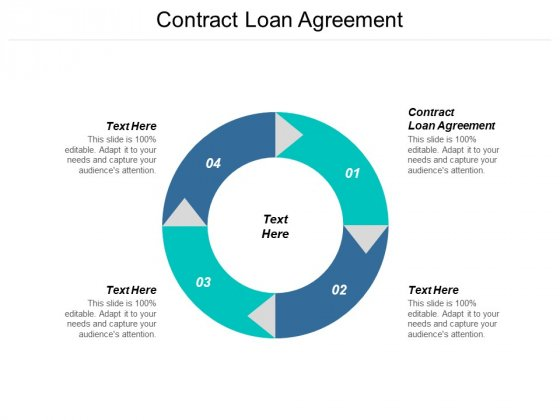 Contract Loan Agreement Ppt PowerPoint Presentation Inspiration Visuals Cpb