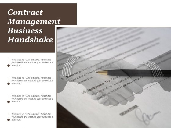 Contract Management Business Handshake Ppt Powerpoint Presentation Slides Brochure