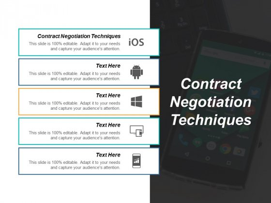 Contract Negotiation Techniques Ppt PowerPoint Presentation Infographics Layouts Cpb