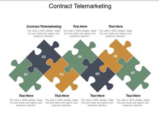 Contract Telemarketing Ppt PowerPoint Presentation Slides Portfolio Cpb