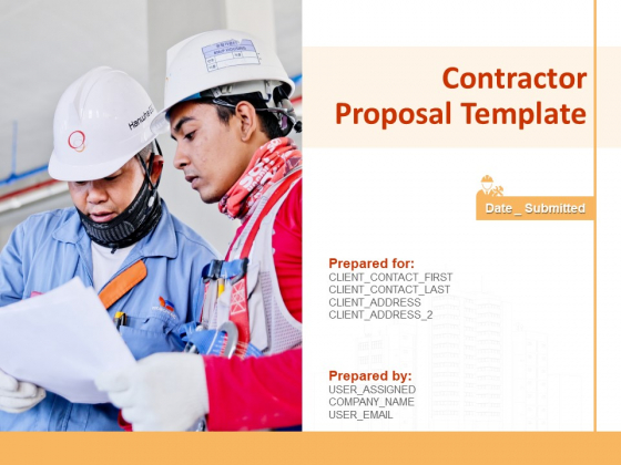 Contractor Proposal Template Ppt PowerPoint Presentation Complete Deck With Slides
