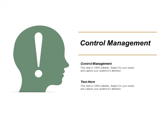 Control Management Ppt PowerPoint Presentation Infographic Template Show Cpb