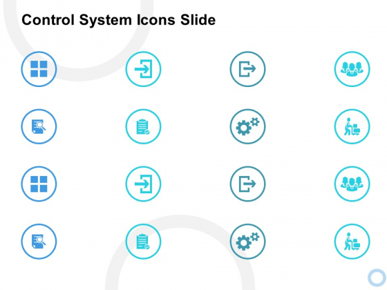 Control System Icons Slide Ppt PowerPoint Presentation Model