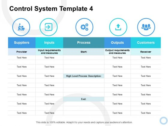 Control System Process Ppt PowerPoint Presentation Infographic Template Master Slide