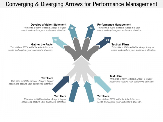 Converging And Diverging Arrows For Performance Management Ppt PowerPoint Presentation File Files