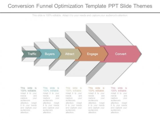 Conversion Funnel Optimization Template Ppt Slide Themes