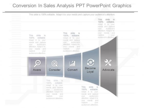 Conversion In Sales Analysis Ppt Powerpoint Graphics