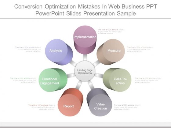 Conversion Optimization Mistakes In Web Business Ppt Powerpoint Slides Presentation Sample