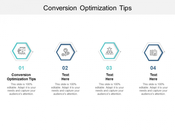 Conversion Optimization Tips Ppt PowerPoint Presentation Pictures Design Ideas Cpb