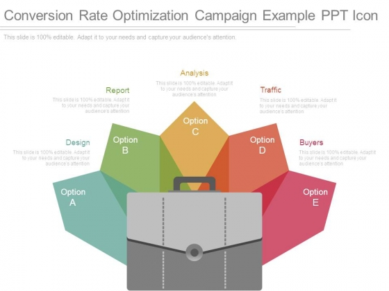 Conversion Rate Optimization Campaign Example Ppt Icon