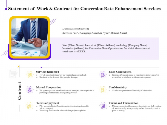 Conversion Rate Optimization Statement Of Work And Contract For Conversion Rate Enhancement Services Graphics PDF