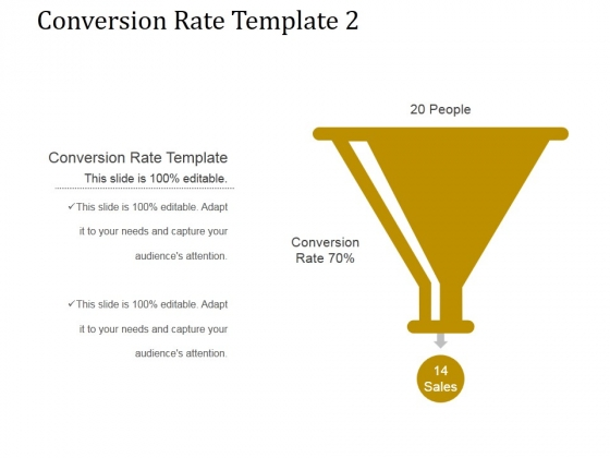 Conversion Rate Template 2 Ppt PowerPoint Presentation Example 2015