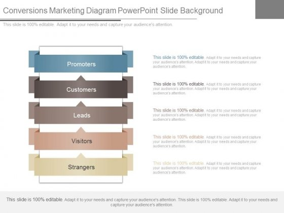 Conversions Marketing Diagram Powerpoint Slide Background