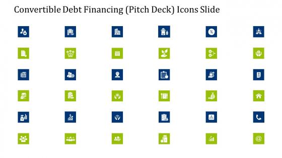 Convertible Debt Financing Pitch Deck Icons Slide Diagrams PDF