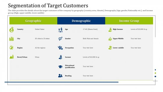 Convertible Debt Financing Pitch Deck Segmentation Of Target Customers Infographics PDF