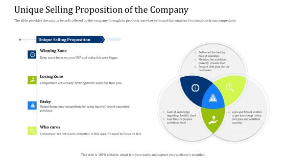 Convertible Debt Financing Pitch Deck Unique Selling Proposition Of The Company Professional PDF