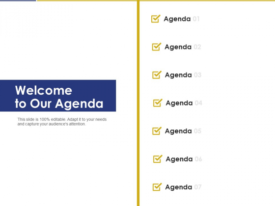 Convertible Note Pitch Deck Funding Strategy Welcome To Our Agenda Ppt PowerPoint Presentation Pictures Clipart PDF