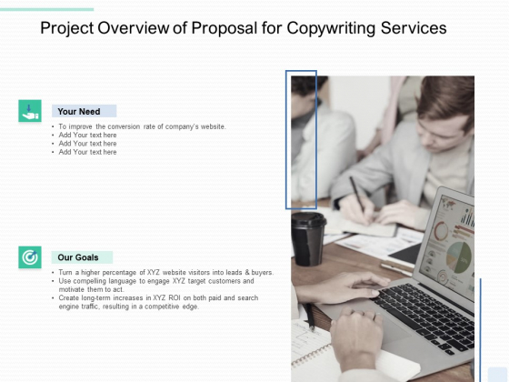 Copywriting Service Project Overview Of Proposal Ppt Inspiration Grid PDF