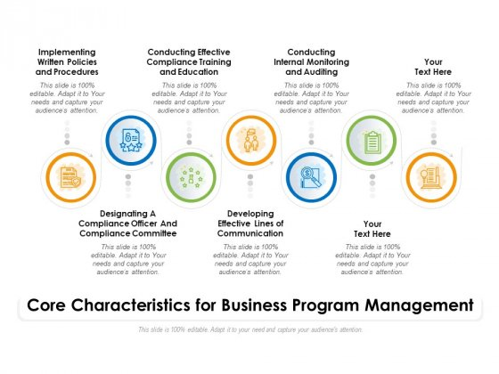 Core Characteristics For Business Program Management Ppt PowerPoint Presentation File Vector PDF