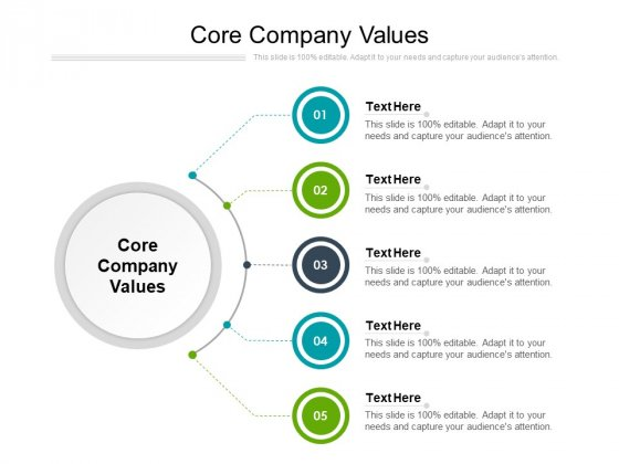 Core Company Values Ppt PowerPoint Presentation Inspiration Layout Ideas Cpb