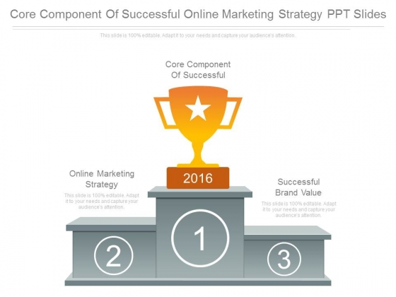 Core Component Of Successful Online Marketing Strategy Ppt Slides