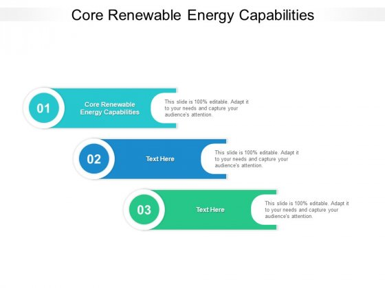 Core Renewable Energy Capabilities Ppt PowerPoint Presentation Gallery Grid Cpb Pdf
